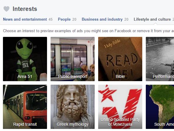 "Screenshot der ""Ad Preferences"" des Autors (Screenshot: facebook.com/ads/preferences)"