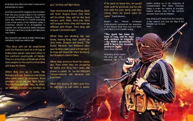 Auch ein klassisches Magazin gehört zum schauerlichen Kommunikationsmix der Terrormiliz