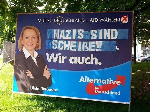 Wer plakativ wirbt, muss damit rechnen, dass seine Werbung plakativ umgetextet wird