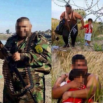 Die Fotos sind verstörend, auch für uns. Weil sie unsere Wahrnehmung der Flüchtlinge betreffen. Man sieht junge Männer und Frauen, freundlich lächelnd vor dem Brandenburger Tor, auf deutschen Bahnhöfen, neben deutschen Polizi (Foto: Facebook)