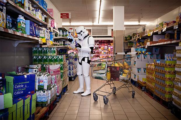 Kulturschock Supermarkt oder: Möge die Pfannkuchenteig-Dosierflasche mit dir sein.  (Foto: Jorge Pérez Higuera)