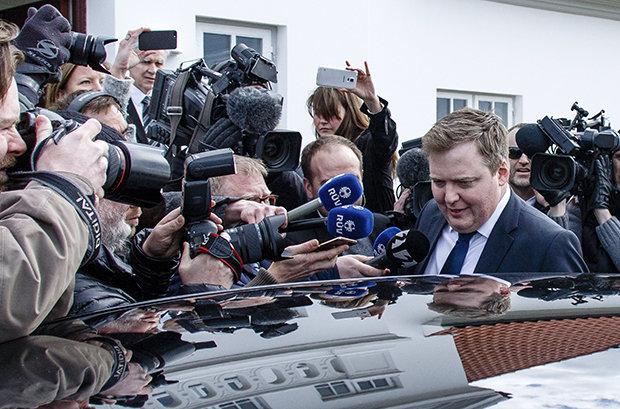 Die Panama Papers sollen Informationen über eine Offshore-Firma auf den Britischen Jungferninseln enthalten, die der Frau des Isländischen Ministerpräsidenten Sigmundur Davíð Gunnlaugsson gehört. Als dann auch noch berichtet wurde, dass Gunnlaugsson selbs (Foto: picture alliance /dpa)