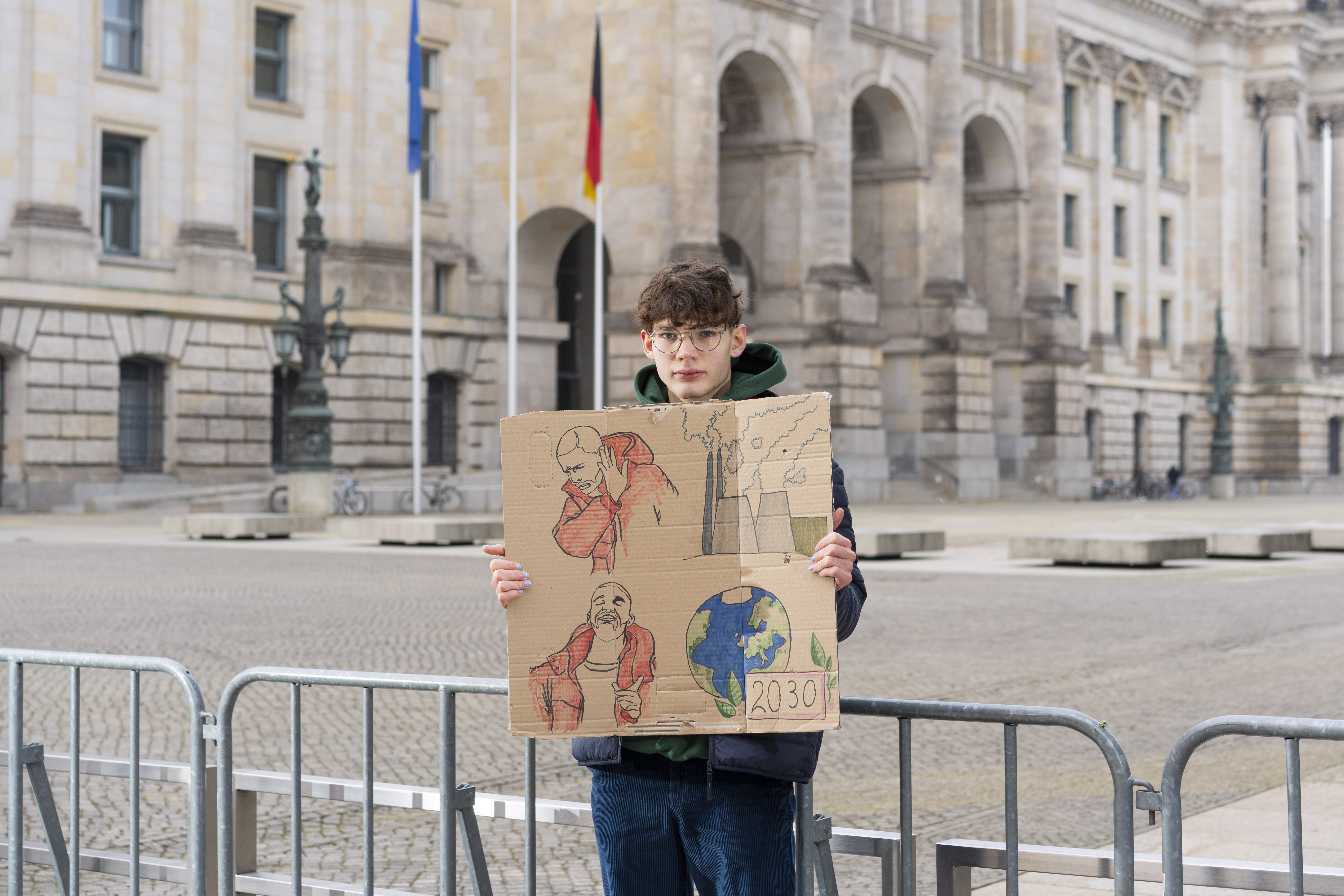 Gian Leo Wiget, 16, Berlin (Plakat: Evelin Graffunder)