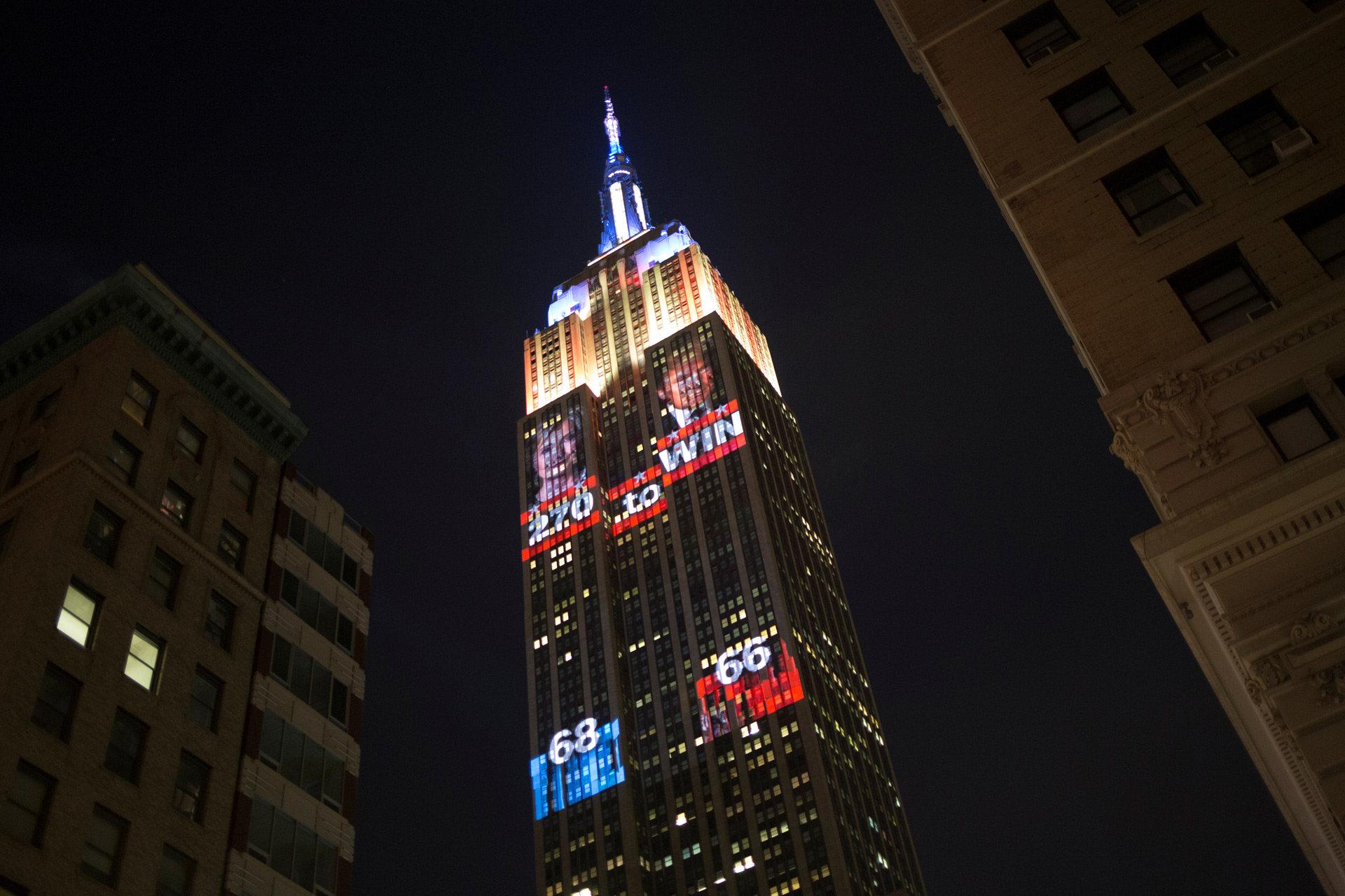 Empire State Building in der Nacht der US-Wahlen (Foto: REUTERS)