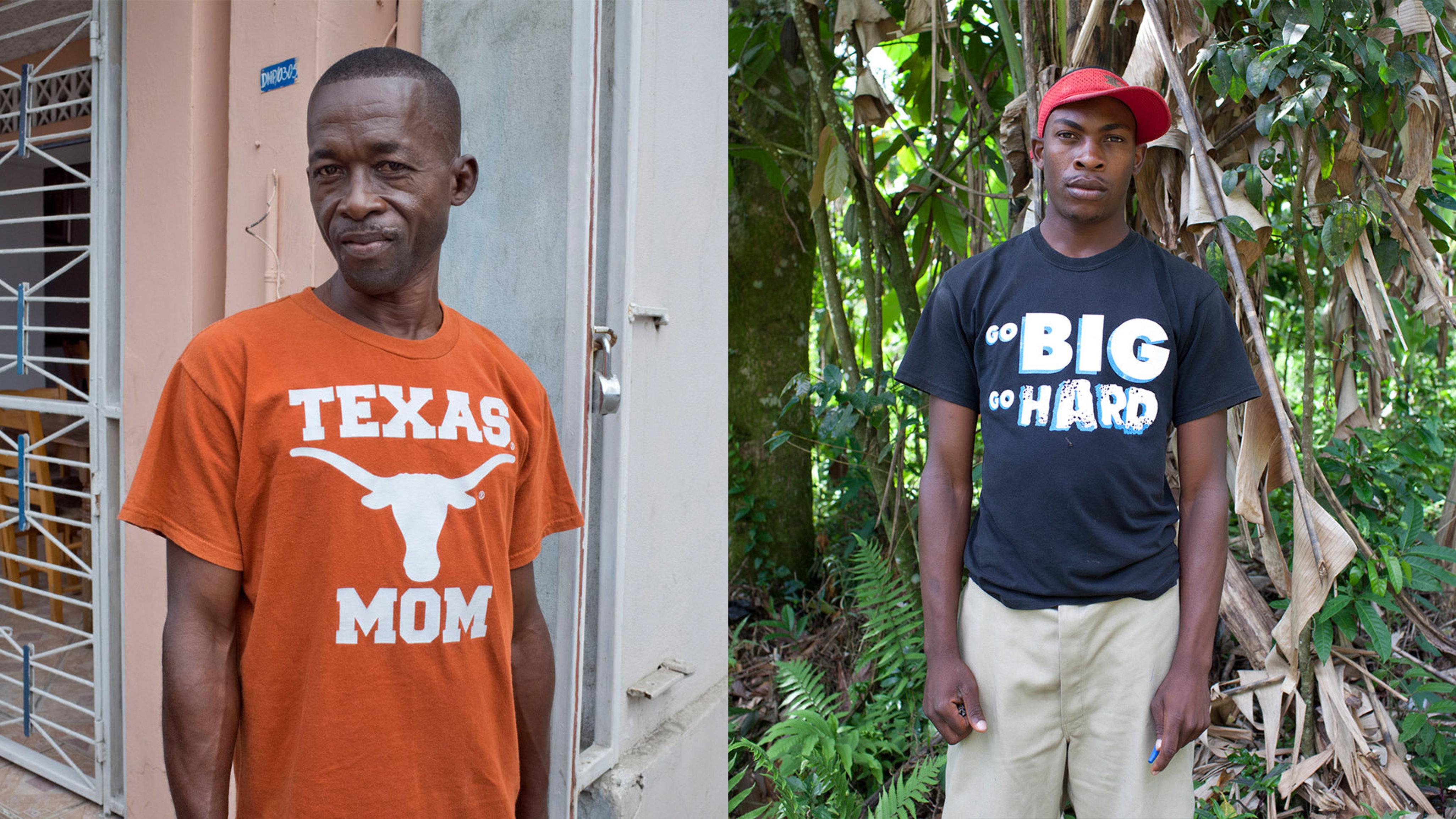 Kleiderspenden in Haiti