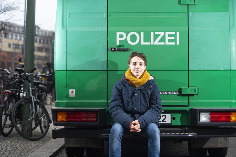 Linus Steinmetz, 15, Göttingen, hat die Demo in Berlin mitorganisiert