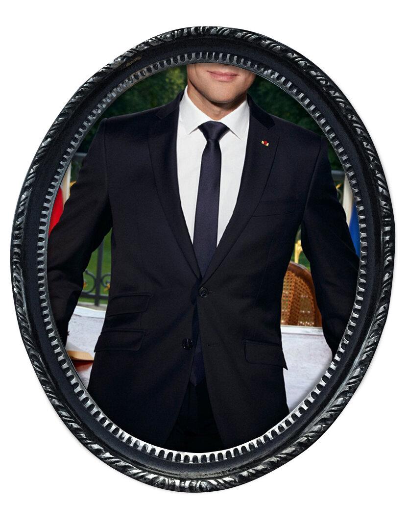 Macron, Anzug