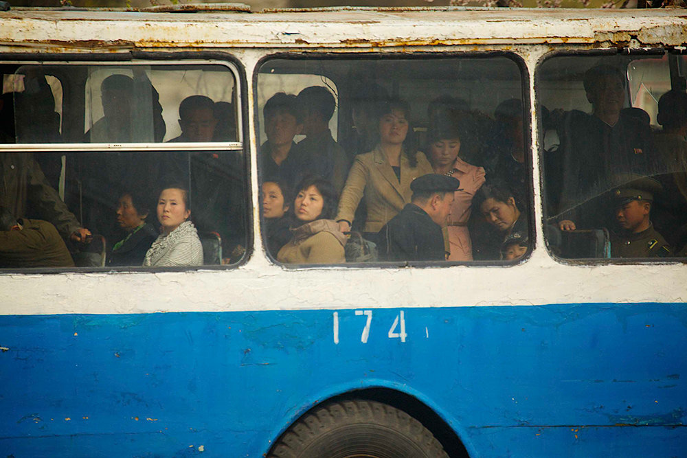 Bus in Pyongyang (Foto: Benjamin Jakabek 2013)