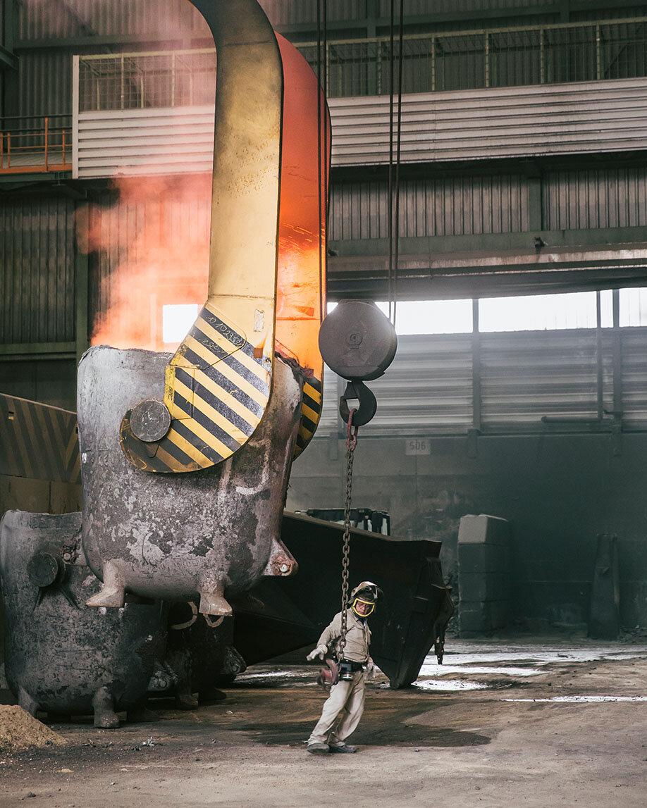 Schmelzofen für das Recycling von Kupfer (Foto: Jonas Wresch)