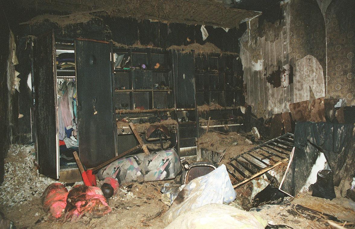 Ausgebranntes Zimmer