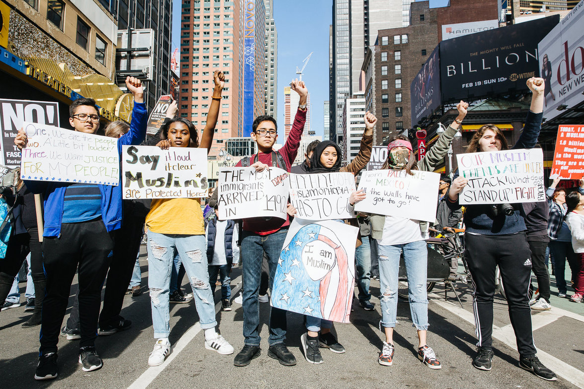 Anti Trump Protest in New York (Foto: Rachel Kober)