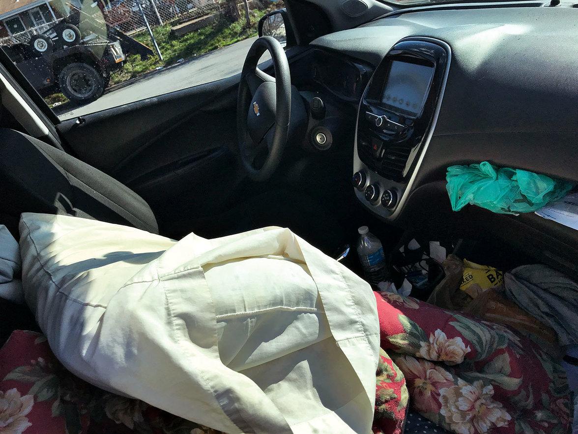 Auto, Wohnen, Obdachlos