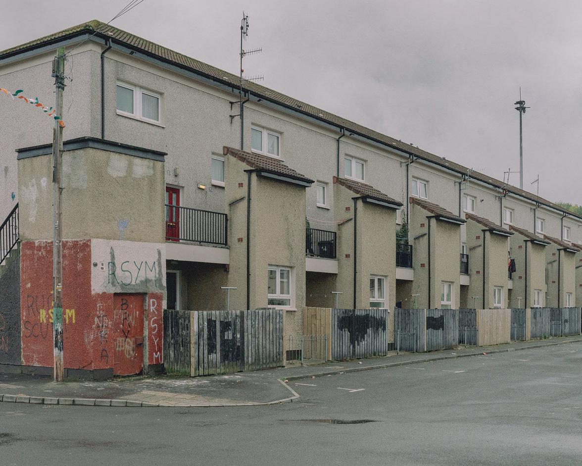 Das Viertel Bogside in Derry