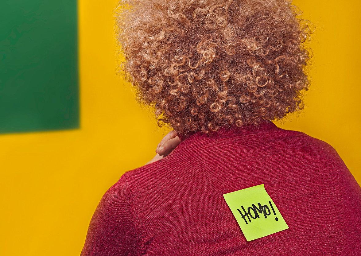 Post-it mit dem Wort Homo