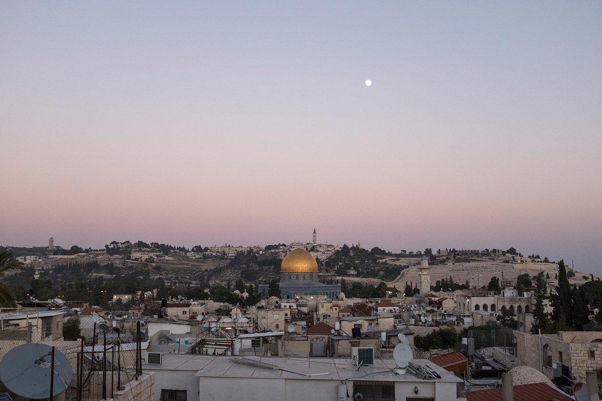 Der Blick auf den östlichen Teil der Jerusalemer Altstadt.