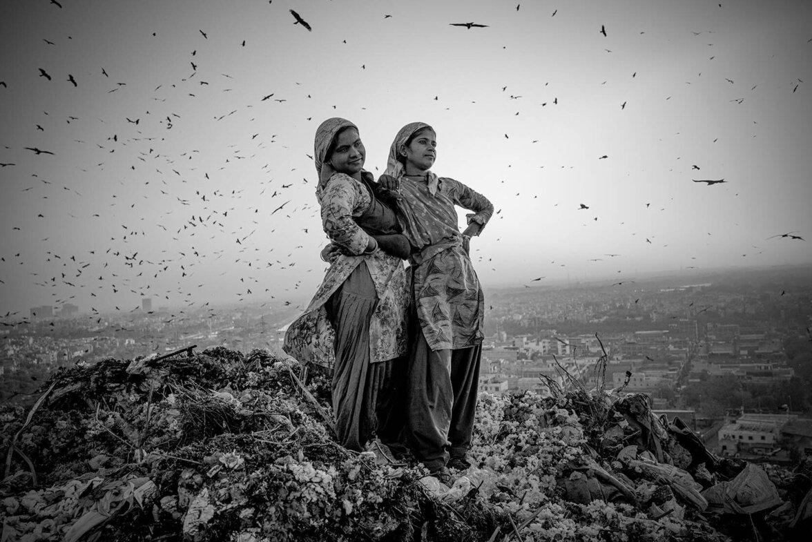 Müllkippe in Dehli