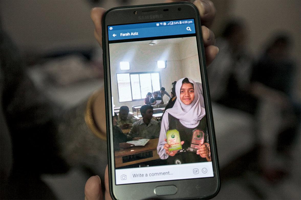 Sabika bekam in Pakistan Auszeichnungen für ihre schulischen Leistungen (Foto:  Khaula Jamil)