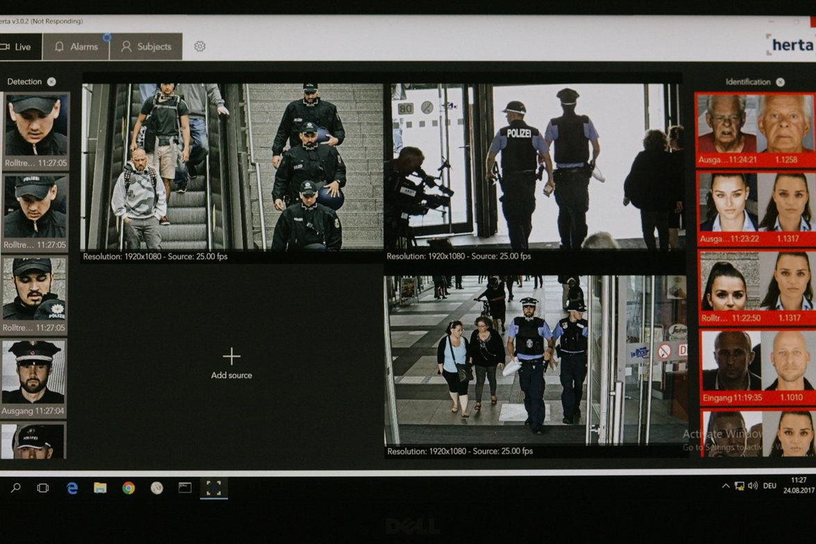Software zur Gesichtserkennung am Bahnhof Berlin-Südkreuz