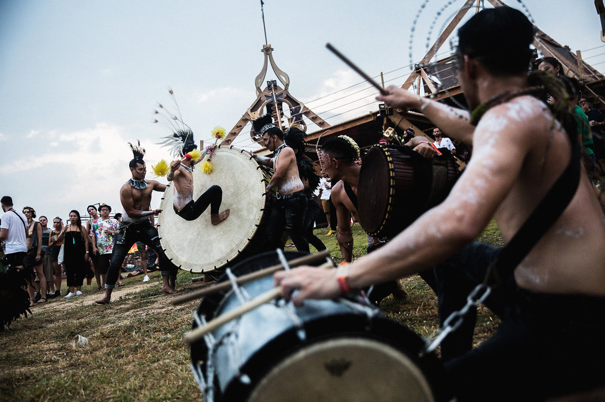Trommler auf dem Festival