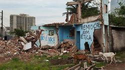 Eine abgerissene Favela in Rio de Janeiro. Sie muss für die Olympischen Spiele weichen