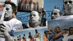Afrikanische Flüchtlinge demonstrieren in Tel Aviv