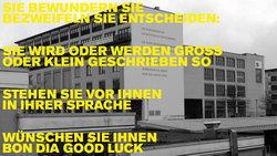 Das Barbara Köhler Gedicht an der Alice Salomon Hochschule (Foto: C.Suthorn / cc-by-sa-4.0)