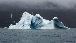 Ein Eisberg im Ozean (Foto: Christian Åslund)