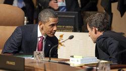 Obama und Sarkozy am Verhandlungstisch