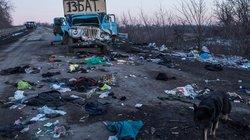 Nach dem Kampf – Spuren der Verwüstung bei Debalzewo in der Ostukraine