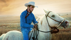 "Szene aus dem Film ""The Rider"""