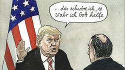 Trump legt den Amtseid ab