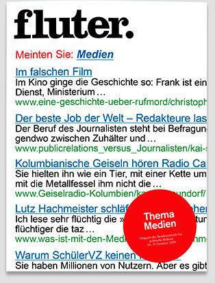 Fluter Heft Nr. 31 - Medien Heft-Cover