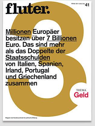 Fluter Heft Nr. 41 - Geld Heft-Cover