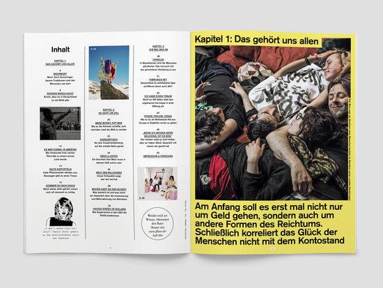 fluter Magazin Nr. 64 Reichtum Inhalt