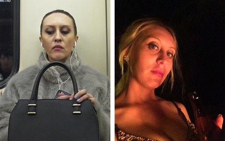Der Fotograf Igor Tsetkov hat die App FindFace getestet, mit der man Personen identifizieren kann: links die fotografierten Passanten in Moskau, rechts deren Bilder in den sozialen Netzwerken