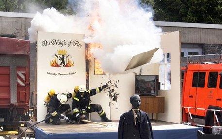 Die Feuergefahr beherrschen: Schutz durch Brandgilden gab es in Deutschland schon im 16. Jahrhundert