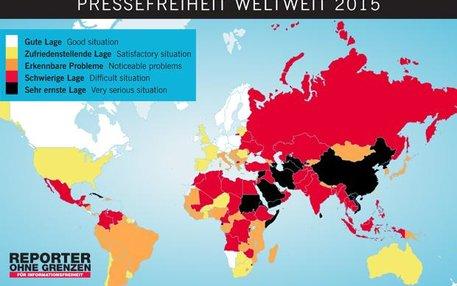 In manchen Ländern sieht Reporter ohne Grenzen Schwarz für die Pressefreiheit. Zur offiziellen Rangliste