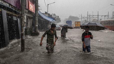 Hochwasser in Mumbai