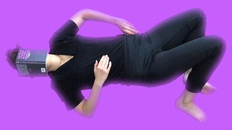 Die Autorin liest beim Yoga