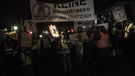 Protest gegen Stromtrasse