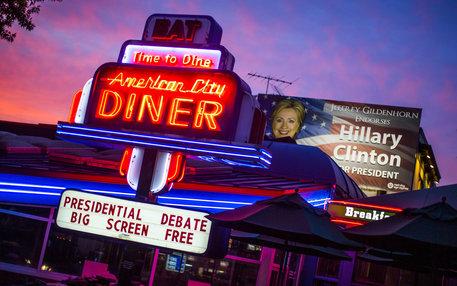 US Diner zeigt das Trump vs. Clinton TV Duell