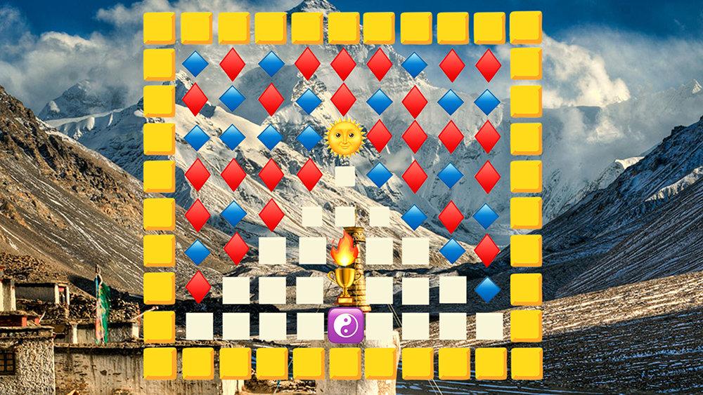 Tibet-Fahne aus Emojis